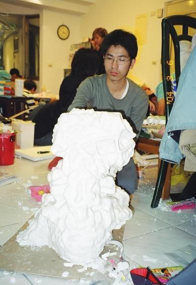 致評與愛子---紙黏土獅子