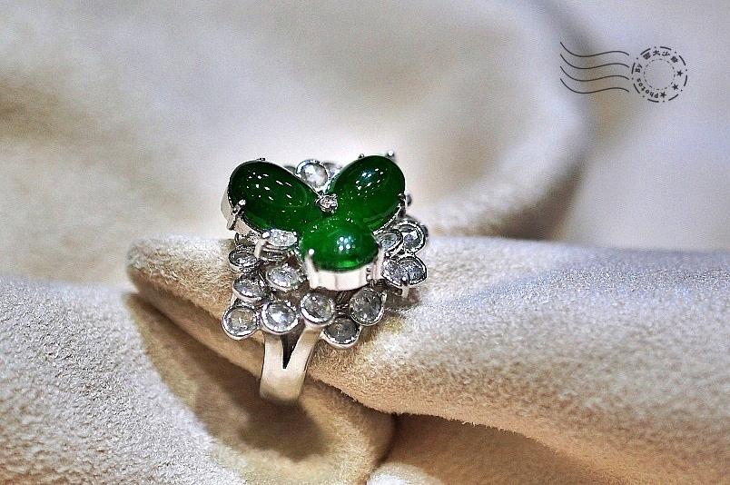 鑽石翡翠戒