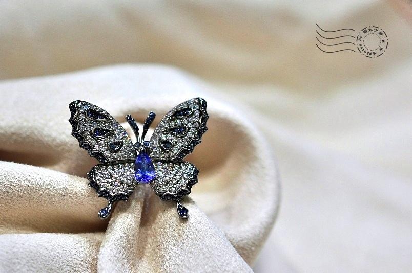 紫水晶胸針