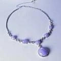 紫羅蘭翡翠項鍊