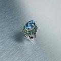 海藍寶戒指
