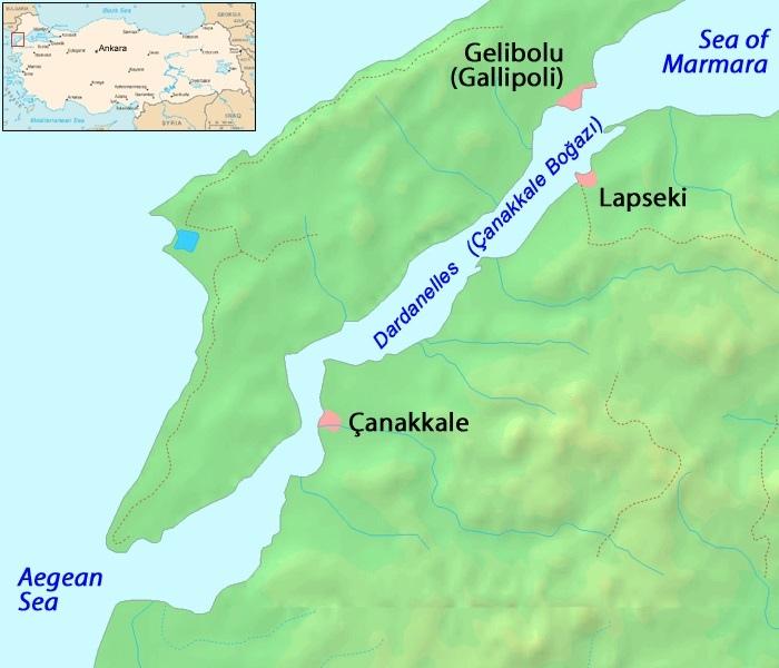 達達尼爾海峽地圖