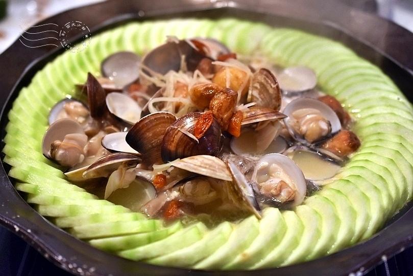 鳥以花香:陶板絲瓜蛤蜊