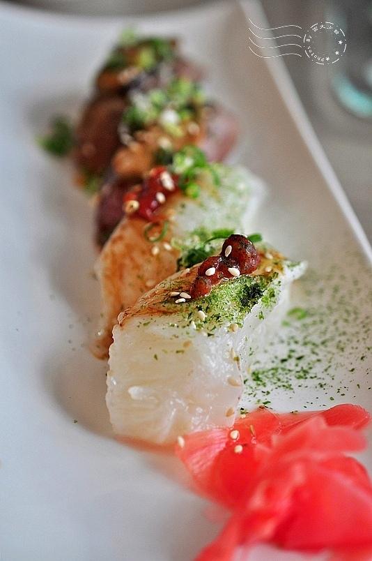 CA rolls'新美日式料理:炙燒比目魚菲力握壽司
