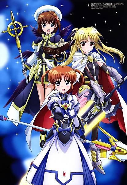 yande.re 382683 sample armor bodysuit fate_testarossa hashidate_kana mahou_shoujo_lyrical_nanoha sword takamachi_nanoha weapon wings yagami_hayate