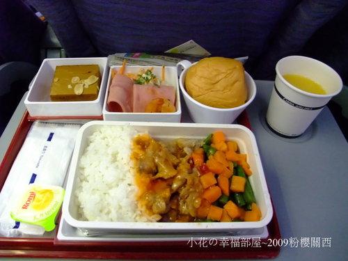 機上餐點~豬肉飯