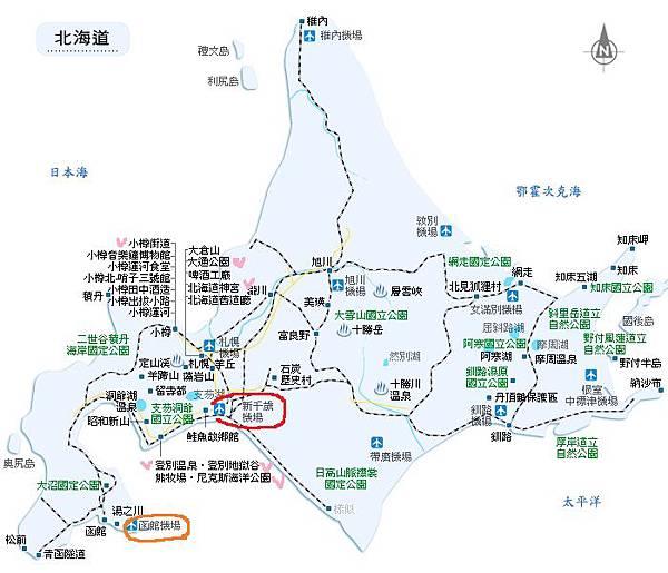 Hokkaid map