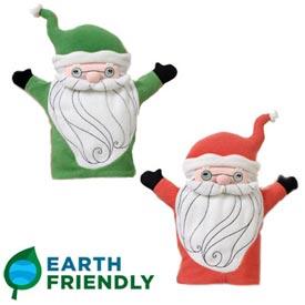 聖誕老公公手套布偶,兩面設計