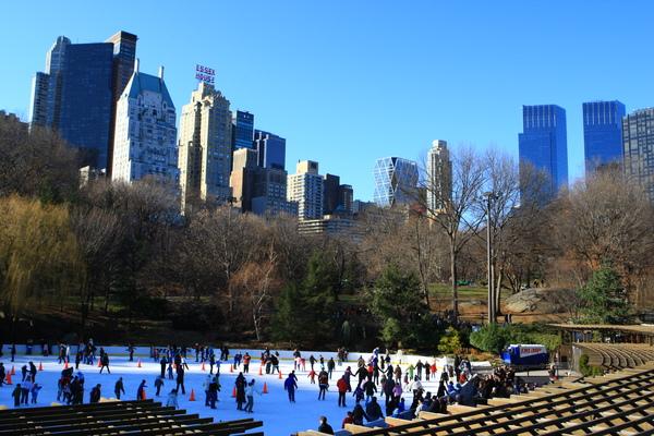 紐約中央公園冰上滑冰區