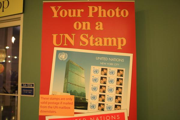 聯合國-製作一張自己照片的郵票來紀念