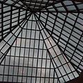 館內2樓某角落的天花板是採玻璃設計,很美