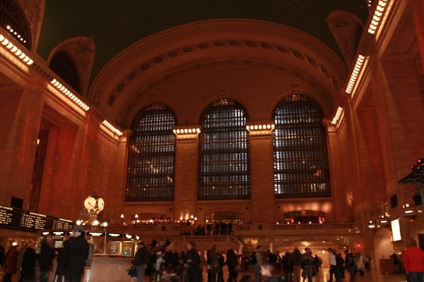 紐約中央車站大廳一角