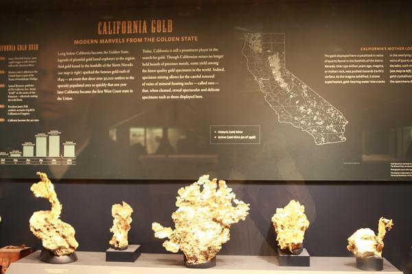 美國加州挖出來的金子