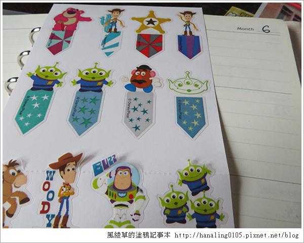 20150620迪士尼標籤貼紙。玩具總動員與史迪奇款