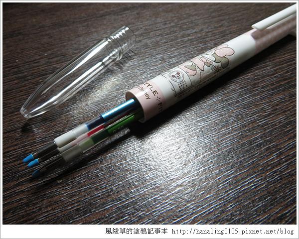 uni迪士尼三色筆管-米妮款05