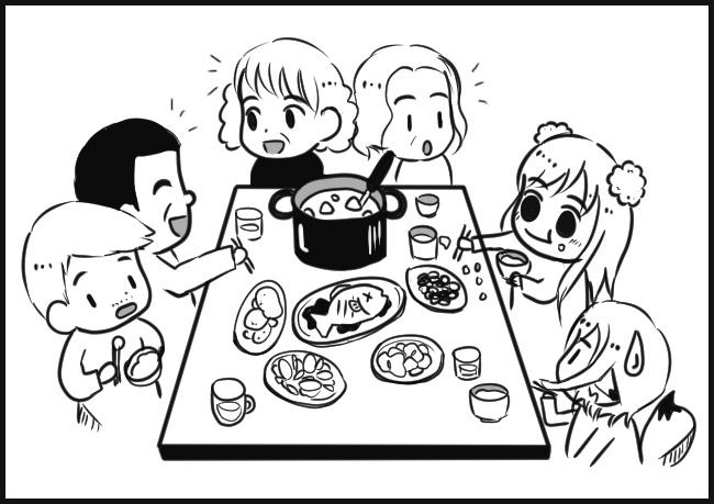過年吃團圓飯之跟長輩搶洗碗!!!!00