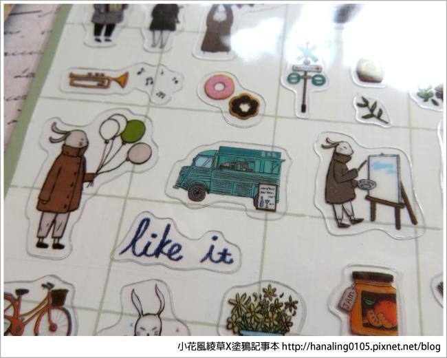 旅人手帳貼紙開箱02