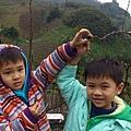 小兄弟和小梨子照相
