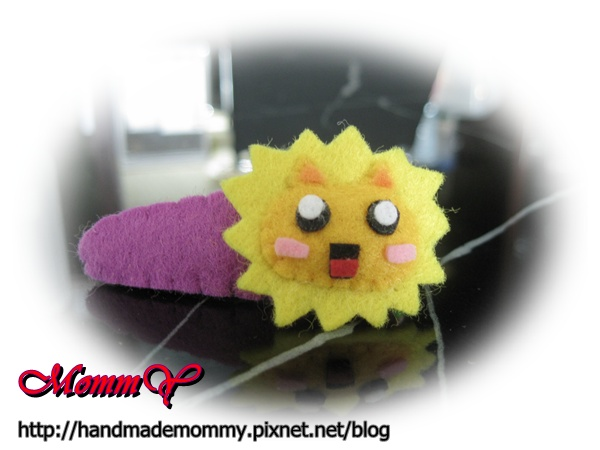 不織布-造型安全髮夾-太陽獅1=手作MommY.JPG