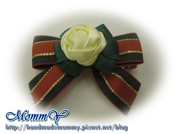 $30手工緞帶髮夾(髮夾本人)2011.11.07-1=手作MommY