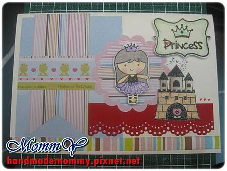 2012手工卡片-1月-Princess1=手作MommY.JPG