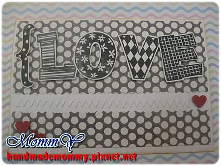 2012手工卡片-圓點(Love)2=手作MommY.JPG