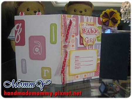 2012手工卡片-雙口袋卡(Double Pocket Card)-sweet girl4=手作MommY