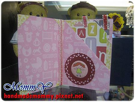 2012手工卡片-雙口袋卡(Double Pocket Card)-sweet girl1=手作MommY