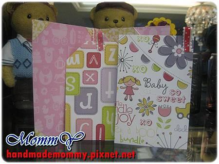 2012手工卡片-雙口袋卡(Double Pocket Card)-sweet girl2=手作MommY