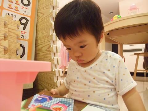 小米粥專心看書