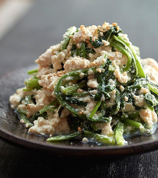 4.涼拌豆腐菠菜