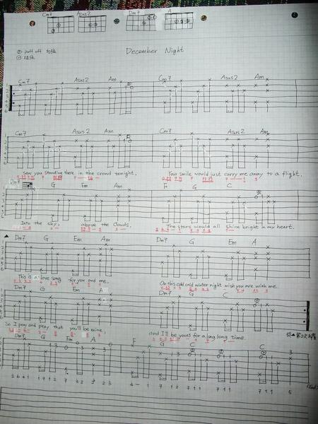 December Night chord