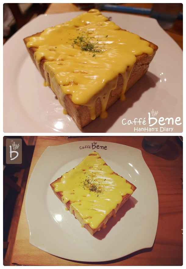 Caffe' bene 咖啡陪你✤Taipei台北忠孝店✤蒜香起司吐司Toast