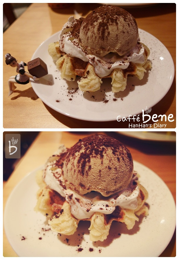 Caffe' bene 咖啡陪你✤Taipei台北忠孝店✤提拉米蘇鬆餅Waffle