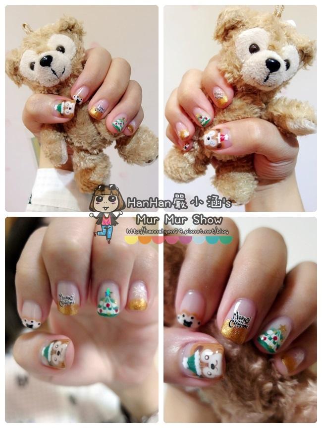Duffy 手繪光療♥聖誕節光療♥Duffy Shelliemay♥達菲熊光療♥Charming girl 喬米♥台北中山