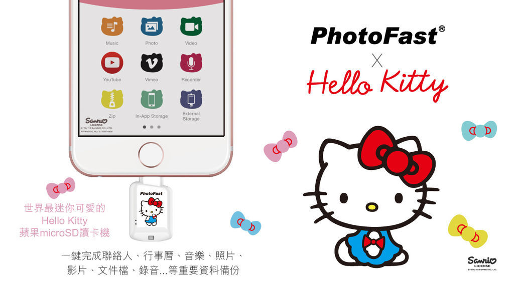 PhotoFast x Hello Kitty 蘋果 micro SD 讀卡機