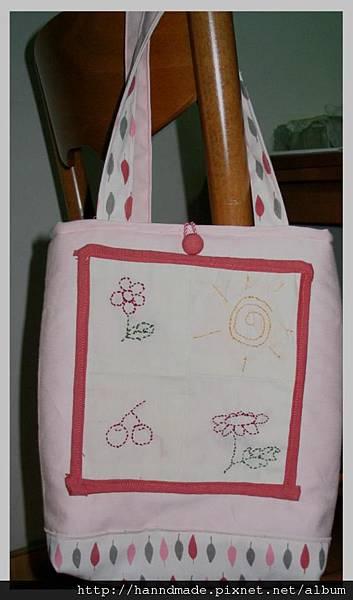 筠芯的縫工作品作成包包(2007)