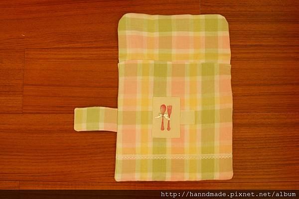 粉粉格子餐具包.JPG