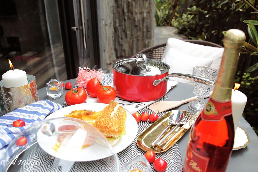 樂鍋史蒂娜 Lagostina Rossella 時尚紅系列 不鏽鋼單柄湯鍋