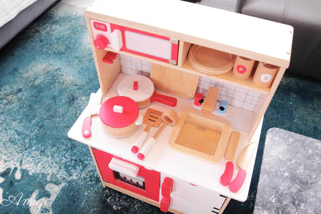 hape 紅白木製廚具台