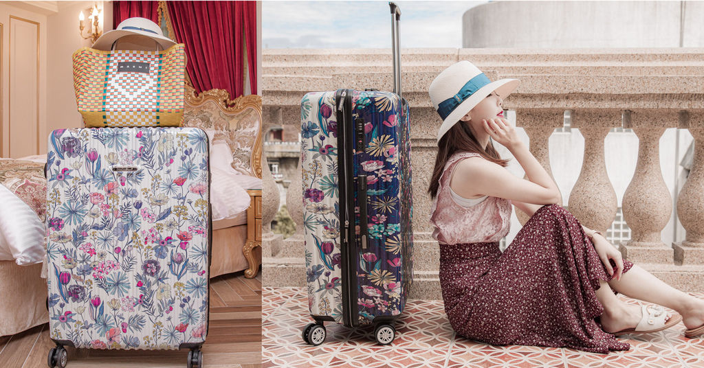 Nasaden 圓夢故事箱 旅行箱 行李箱 露台上的波麗 雙色行李箱