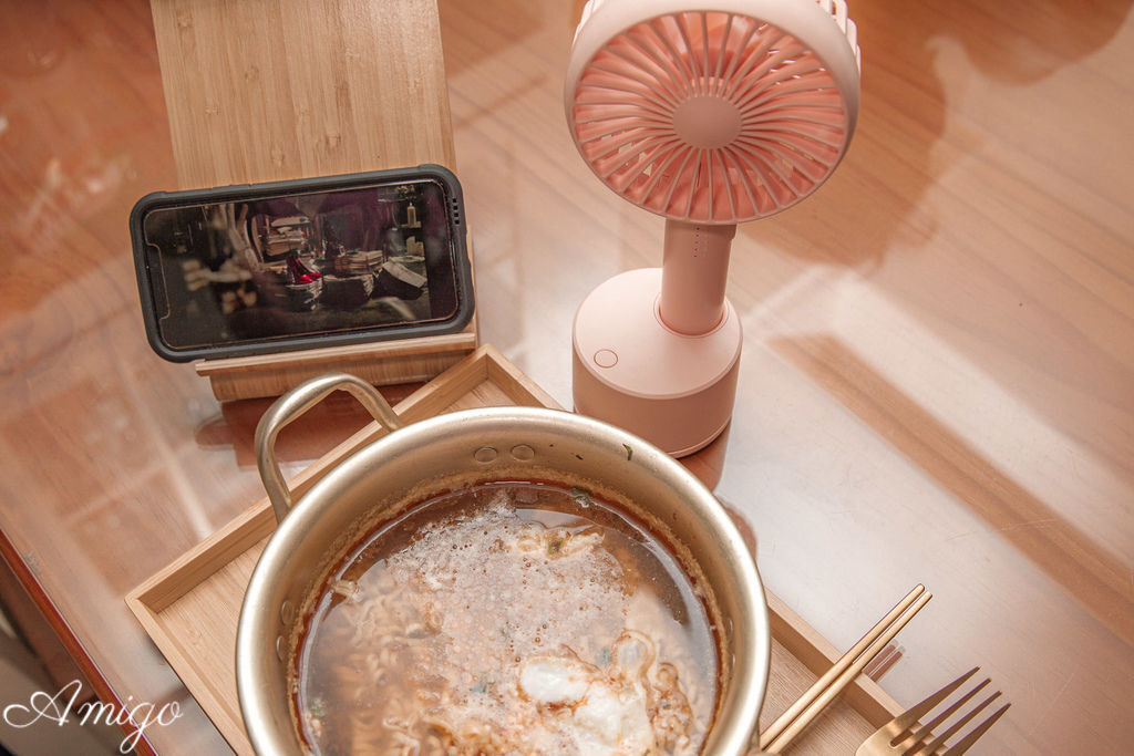 開團-HealthLife 手持電動擺頭風扇/桌扇 (USB充電式-五段風量)