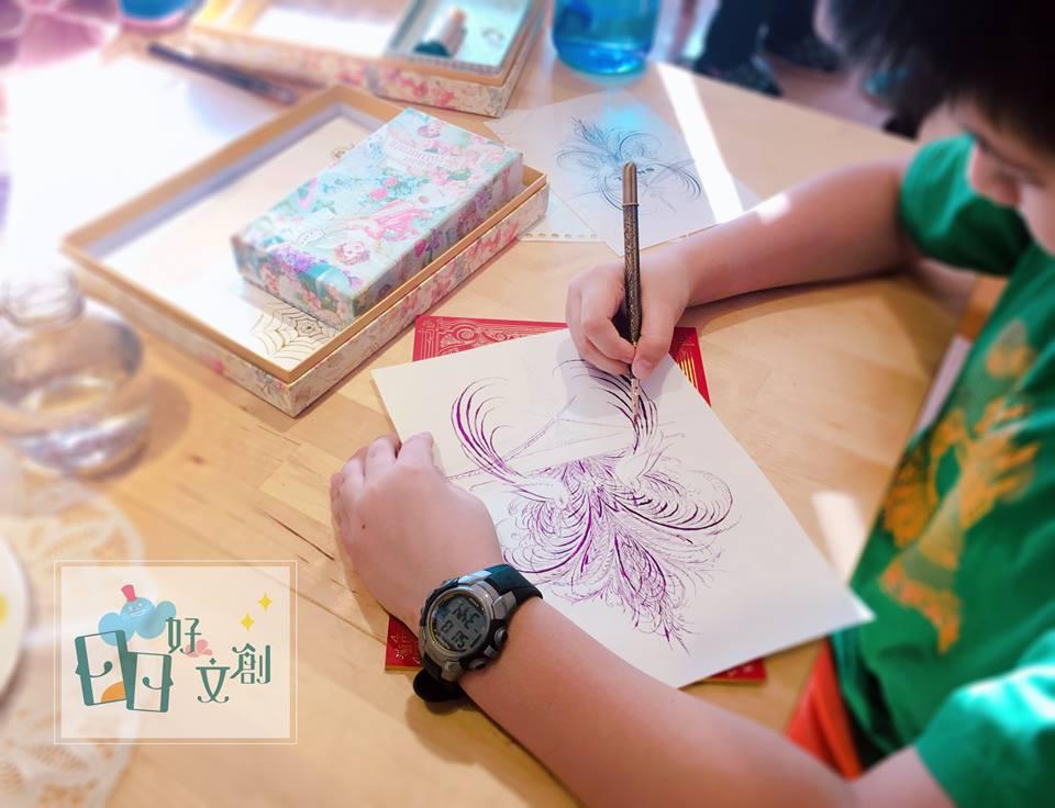 日日好文創韓玉青老師鋼筆字鋼筆繪畫教學作品方式風格