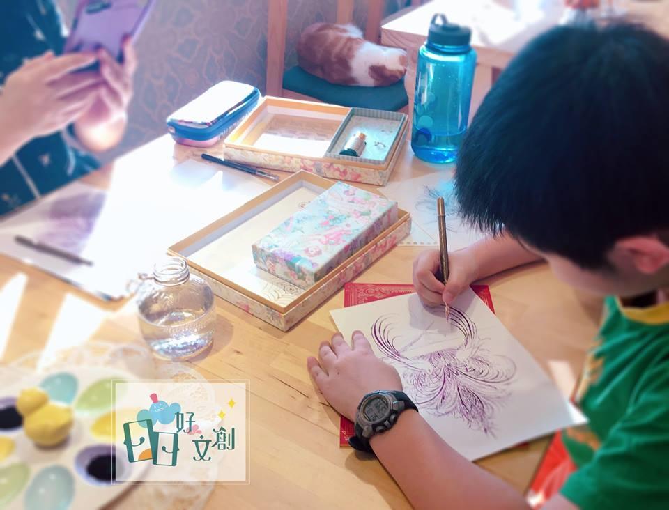 日日好文創韓玉青老師鋼筆字親子班鋼筆繪畫教學入門作品方式風格