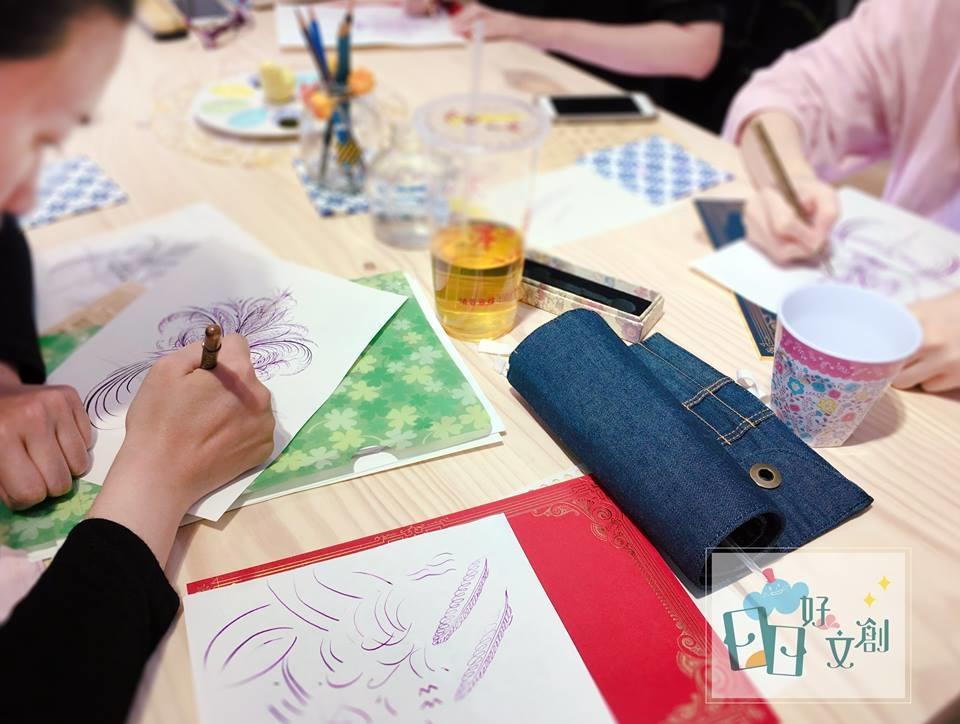 日日好文創韓玉青老師初學鋼筆字鋼筆繪畫入門課程推薦作品方式風格評價