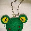 [不織布]--小青蛙吊飾