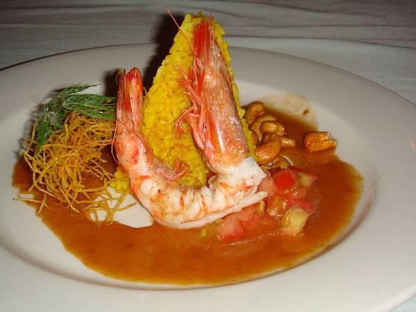 [高盧]煎大蝦+番紅花飯