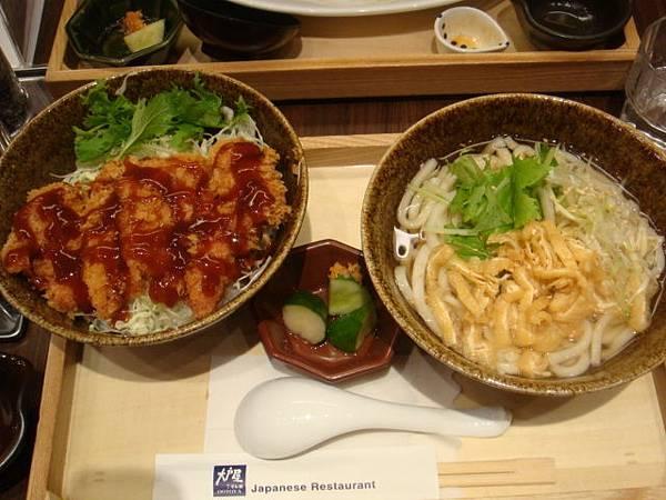 [大戶屋]--雞排蓋飯+烏龍湯麵