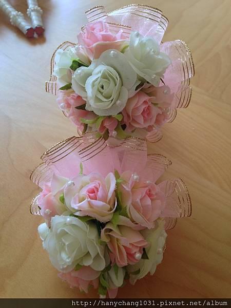 [婚禮小物]--浪漫玫瑰花球風簽名筆