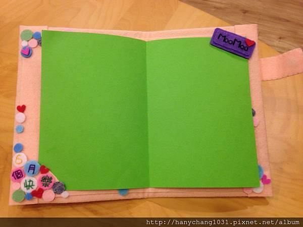 [不織布手作物]--附上空白的卡紙,可以自己寫上滿滿的祝福